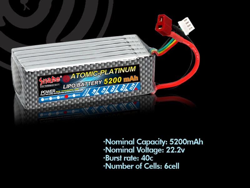 Car Battery Voltage >> lithium polymer battery 22.2V 5200mAh 40C