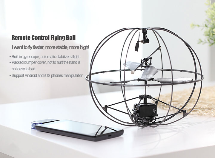 IR, IPHONE & ANDROID controlled flying ball with gyro REH46174