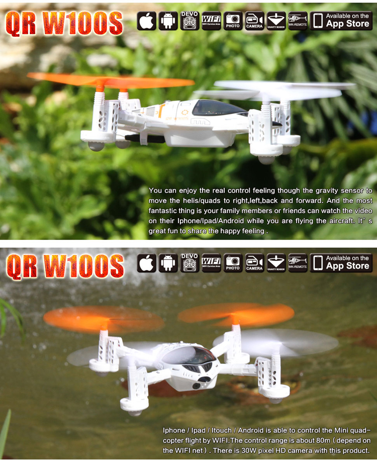Walkera QR W100S FPV Wifi RC Quadcopter For IOS/Android System