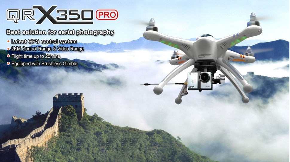 Walkera QR X350 PRO - GPS FPV RC Quadcopter With DEVO F7