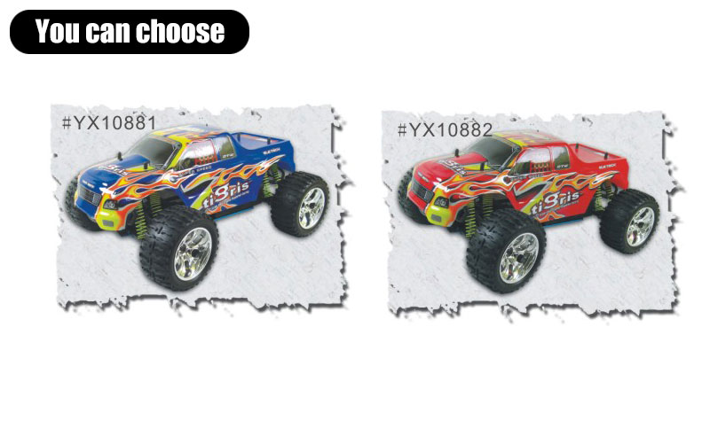 1/10 scale 4WD nitro powered monster truck TPGT-1088U,High Quality RC Model Car,1/10 car,monster truck,Nitro model car,CHINA TOPWIN INDUSTRY CO.,LTD