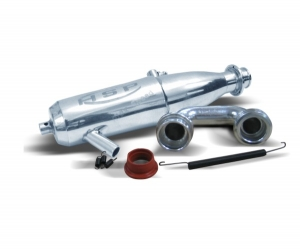 1/8 Scale Aluminum Polished Exhaust Pipe 81084