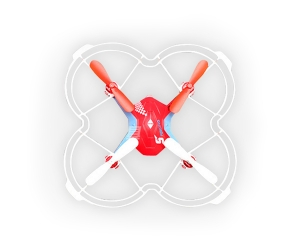 2.4G 4 Channel voice control rc quadcopter with light REH72X4V